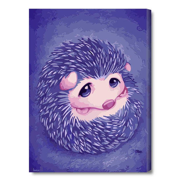 Hedgehog-30*40cm Paint by Numbers with Frame for Wall Decoration - idiypaint