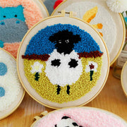 DIY Punch Needle Kit Handcraft Creative Gift with Embroidery Frame - Sean The Sheep