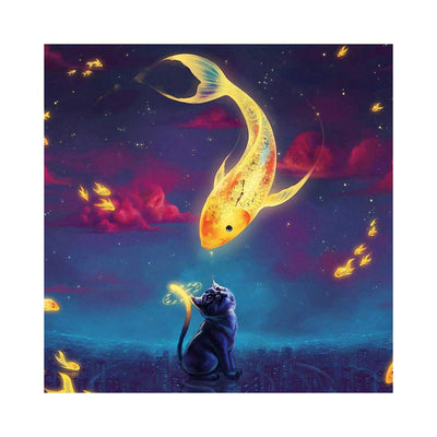 Goldfish and Cat- DIY 5D Diamond Painting - idiypaint