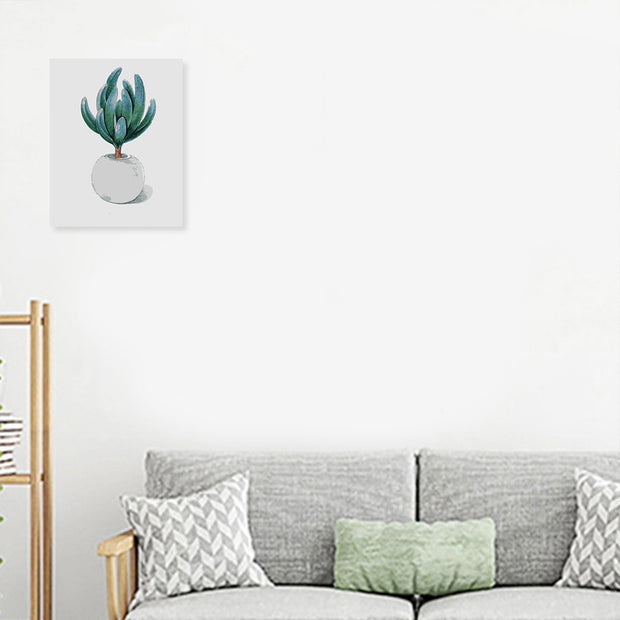 Green Plant-40*50cm DIY Paint by Numbers Kits with Frame for Wall Decoration - idiypaint