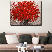 Red Flower-40*50cm Paint by Numbers With Free Brushes - idiypaint