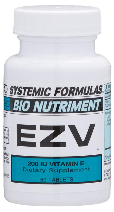 Systemic Formulas Bio Nutriment EZV 200 I.U. Vitamin E