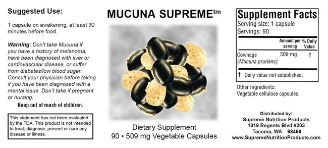 Supreme Nutrition Products Mucuna