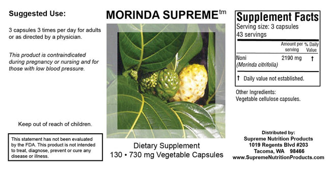 Supreme Nutrition Products Morinda Supreme