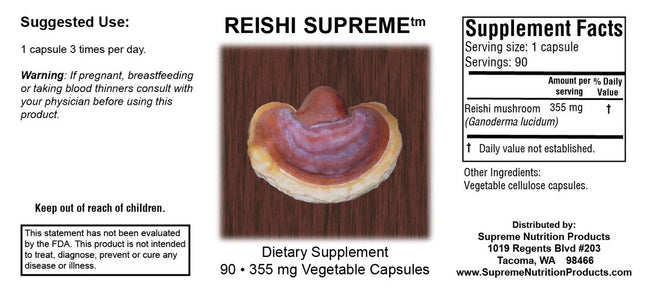 Supreme Nutrition Products Reishi Supreme