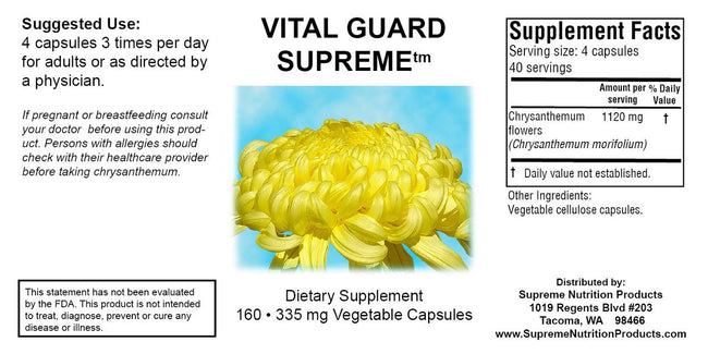 Supreme Nutrition Products Vital Guard Supreme