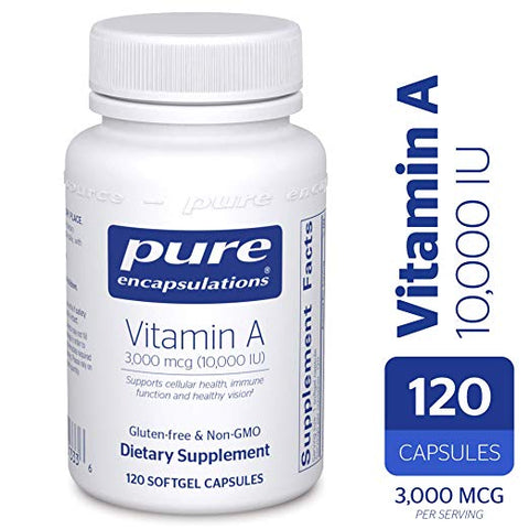 Pure Encapsulations Vitamin A (10,000 IU)