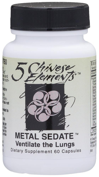 Systemic Formulas Chinese 5 Elements Metal Sedate