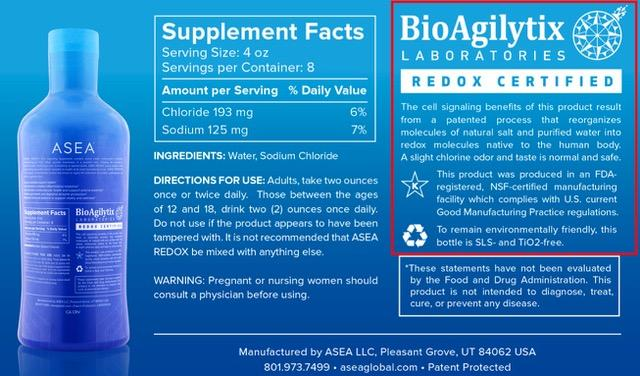 ASEA Redox Cell Signaling Supplement
