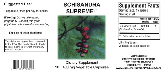 Supreme Nutrition Products Schisandra Supreme