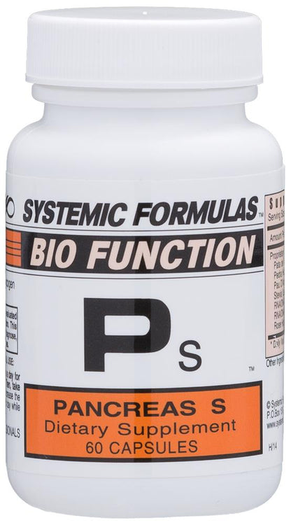 Systemic Formulas Bio Function Ps Pancreas S