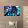 Wolf In Forest Canvas Wall Art