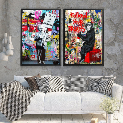 2 Piece Follow Your Dreams Graffiti Bundle - Canvas Insider