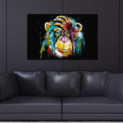 Colorful Monkey Canvas Wall Art