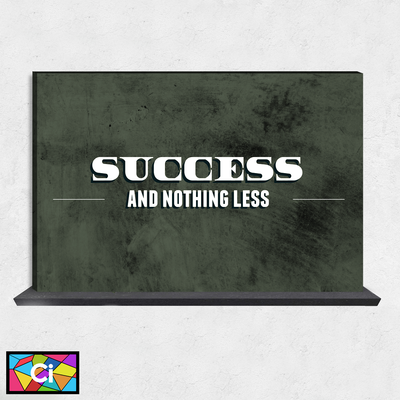 Success & Nothing Less Motivational Canvas Wall Art