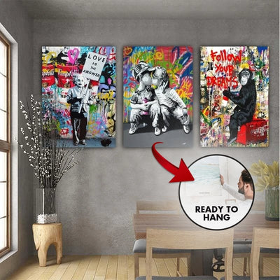 3 Piece Follow Your Dreams Graffiti Bundle - Canvas Insider