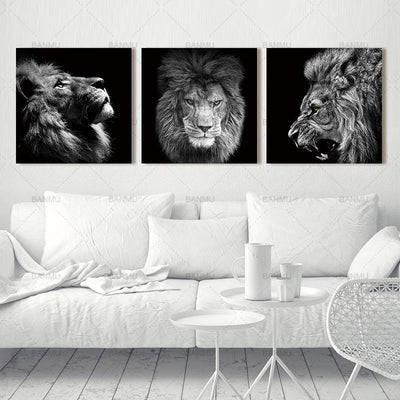 3 Piece Lion King of The Wild Canvas Wall Art - Canvas Insider™️