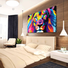 Colorful Lion Canvas Wall Art
