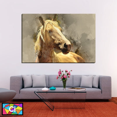 Abstract Horse Canvas Wall Art - Canvas Insider™️