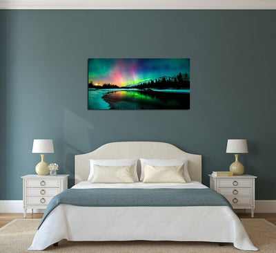 Aurora Scenery Canvas Wall Art - Canvas Insider™️