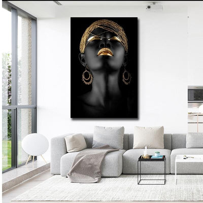 Black & Golden Abstract Artistic Canvas Wall Art - Canvas Insider™️