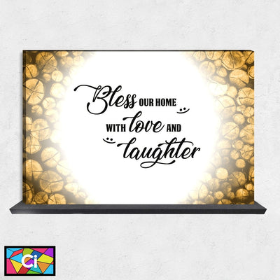 Bless Our Home With Love & Laughter Canvas Wall Art - Canvas Insider™️