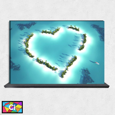 Caribbean Sea Love Canvas Wall Art - Canvas Insider™️