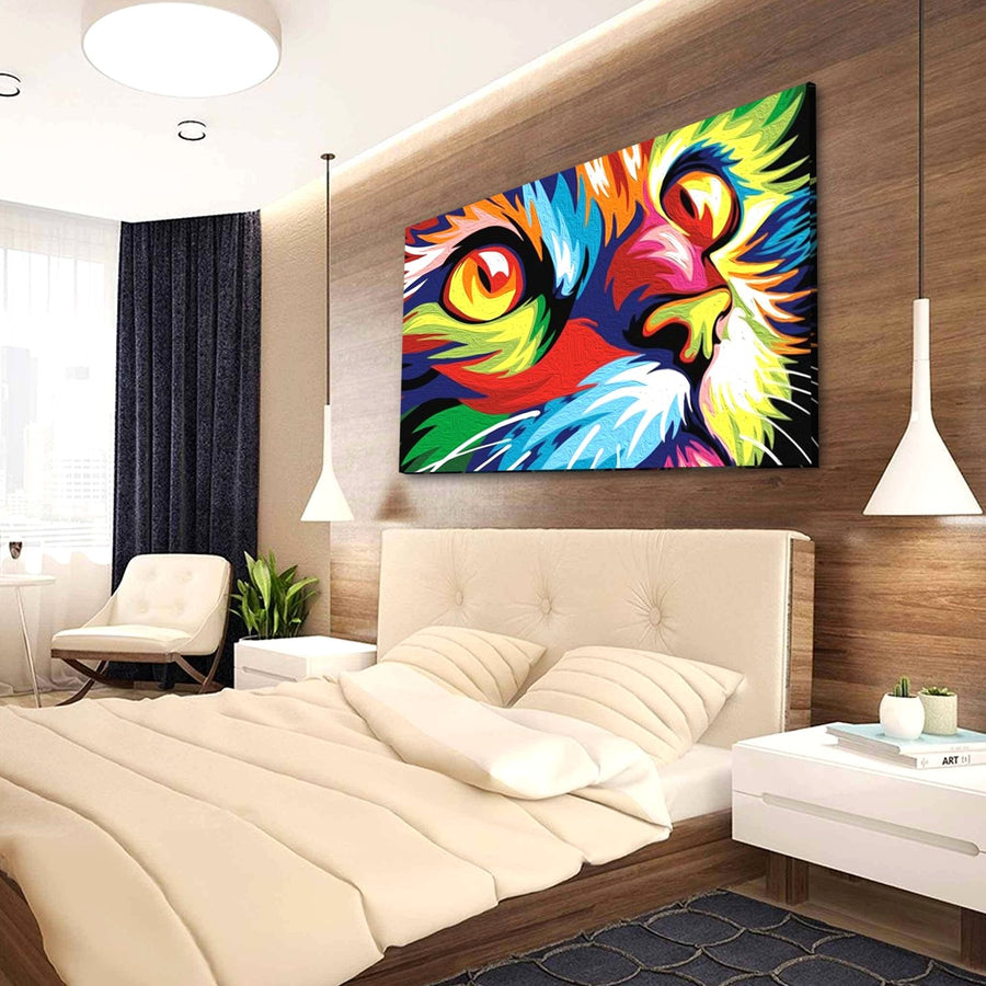 Colorful Cat Canvas Wall Art - Canvas Insider™️
