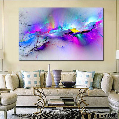 Colorful Clouds Of Light Abstract Canvas Wall Art - Canvas Insider™️