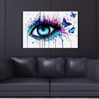 Colorful Eye Canvas Wall Art - Canvas Insider™️