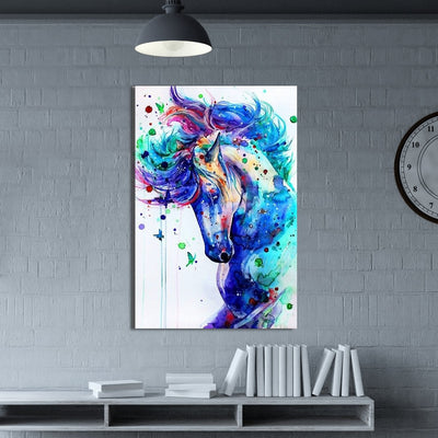 Colorful Horse Canvas Wall Art - Canvas Insider™️