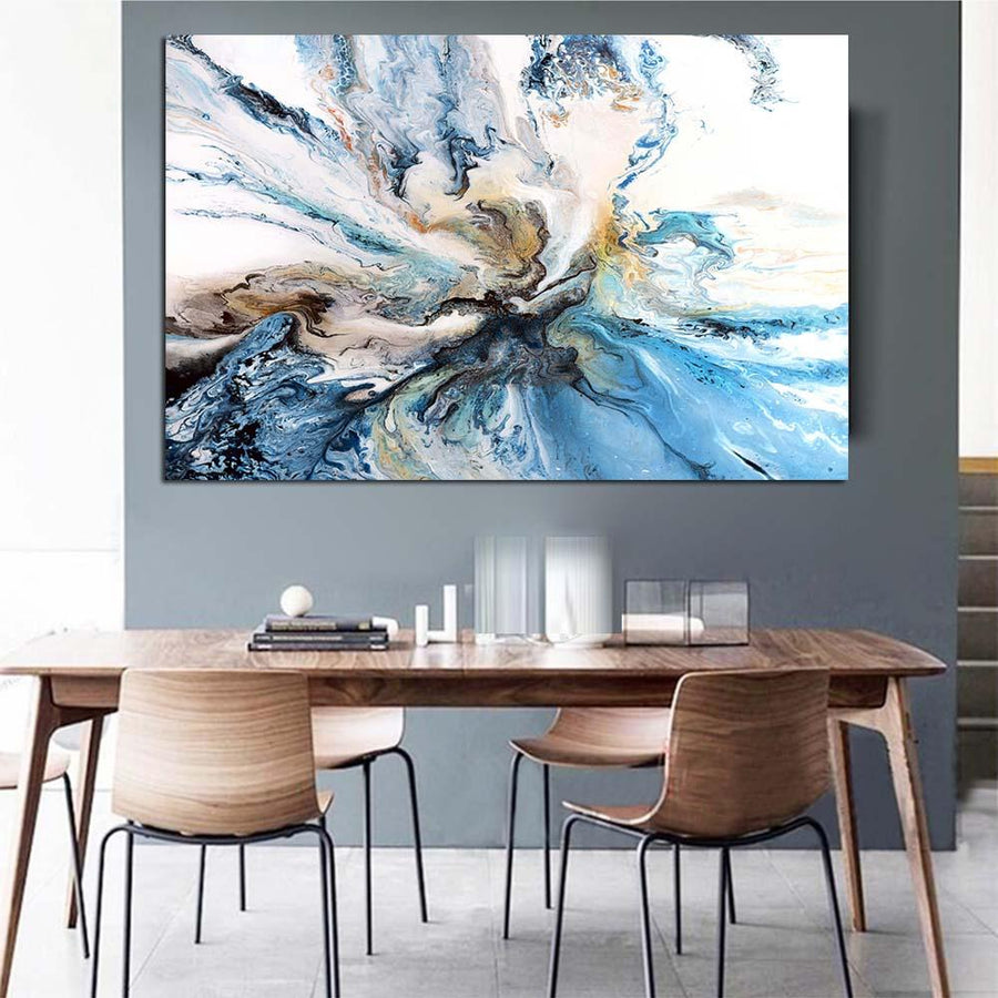 Colorful Ocean Blend Abstract Painting On Canvas - Canvas Insider™️