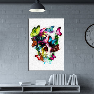 Colorful Skull Canvas Wall Art - Canvas Insider™️