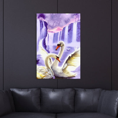 Colorful Swan Canvas Wall Art - Canvas Insider™️