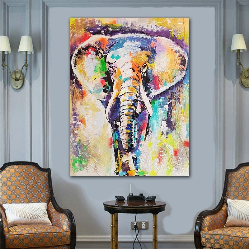 Colourful Splash Of Colours Elephant Canvas Wall Art - Canvas Insider™️