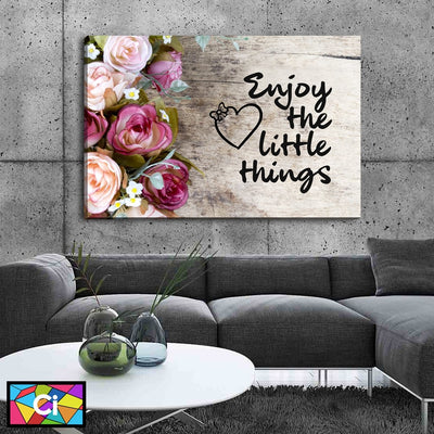 Enjoy The Little Things Canvas Wall Art - Canvas Insider™️