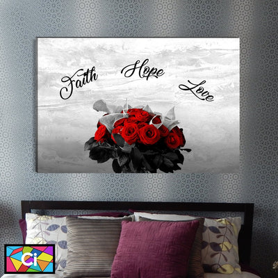 Faith, Hope, & Love Canvas Wall Art - Canvas Insider™️
