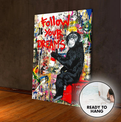 Follow Your Dreams Graffiti Art - Canvas Insider