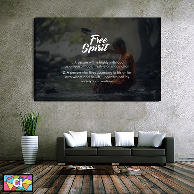 Free Spirit Spiritual Message Canvas Wall Art - Canvas Insider™️