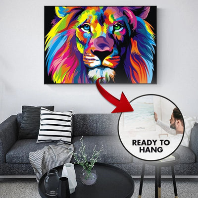 Graffiti Lion Canvas Painting Wall Art - Canvas Insider