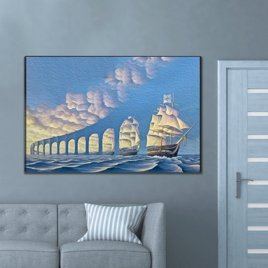 Hidden Boats Limited Edition Canvas Art - Canvas Insider™️