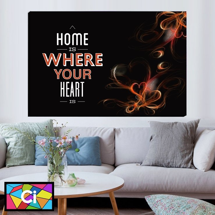 Home is Where Your Heart Is Canvas Wall Art - Canvas Insider™️