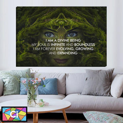 I Am A Divine Being Canvas Wall Art - Canvas Insider™️