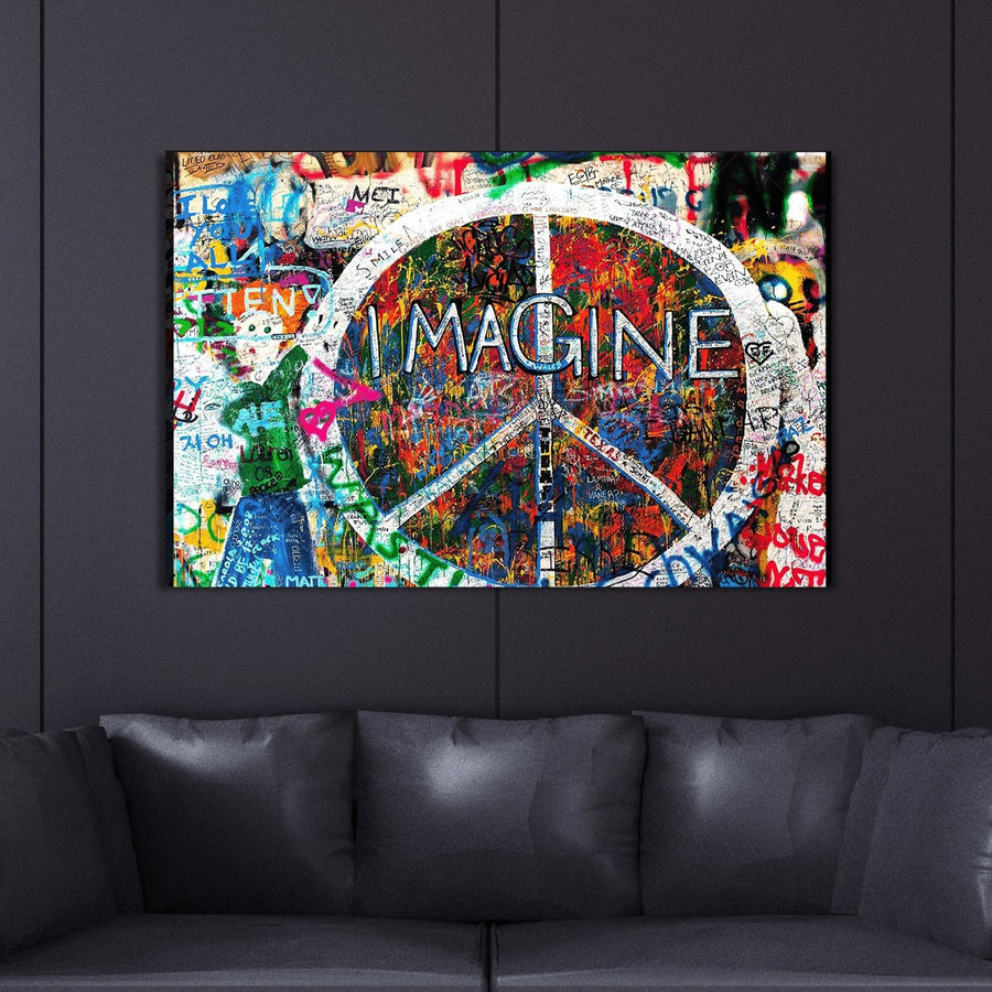 Imagine Love Ready To Hang Graffiti Art - Canvas Insider™️