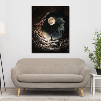 Incredible Cave Face Limited Edition Canvas Art - Canvas Insider™️