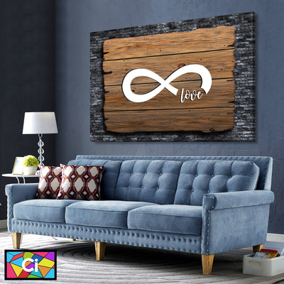 Infinite Love Canvas Wall Art - Canvas Insider™️