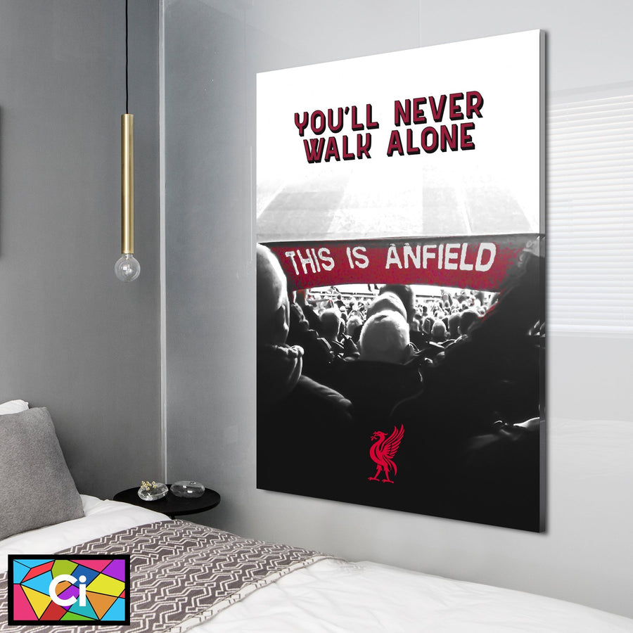 "Liverpool FC ""This Is Anfield"" YNWA Canvas Wall Art - Canvas Insider™️"