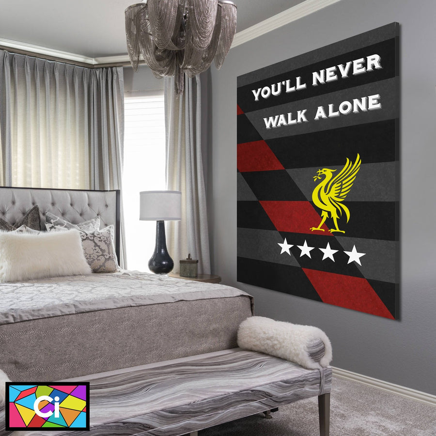 Liverpool FC You'll Never Walk Alone Canvas Wall Art - Canvas Insider™️