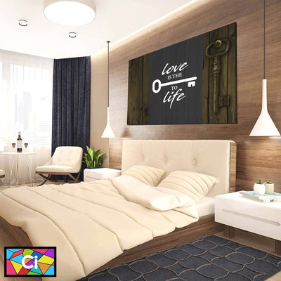 Love Is The Key To Life Canvas Wall Art - Canvas Insider™️