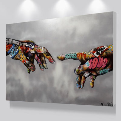 Magnetic Soulmate Love Connection Pop Art Canvas Wall Art - Canvas Insider™️